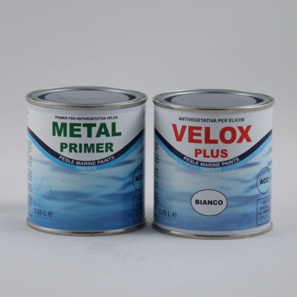 Antifouling-Set VELOX-PLUS (Metall-Primer & Farbe) weiß